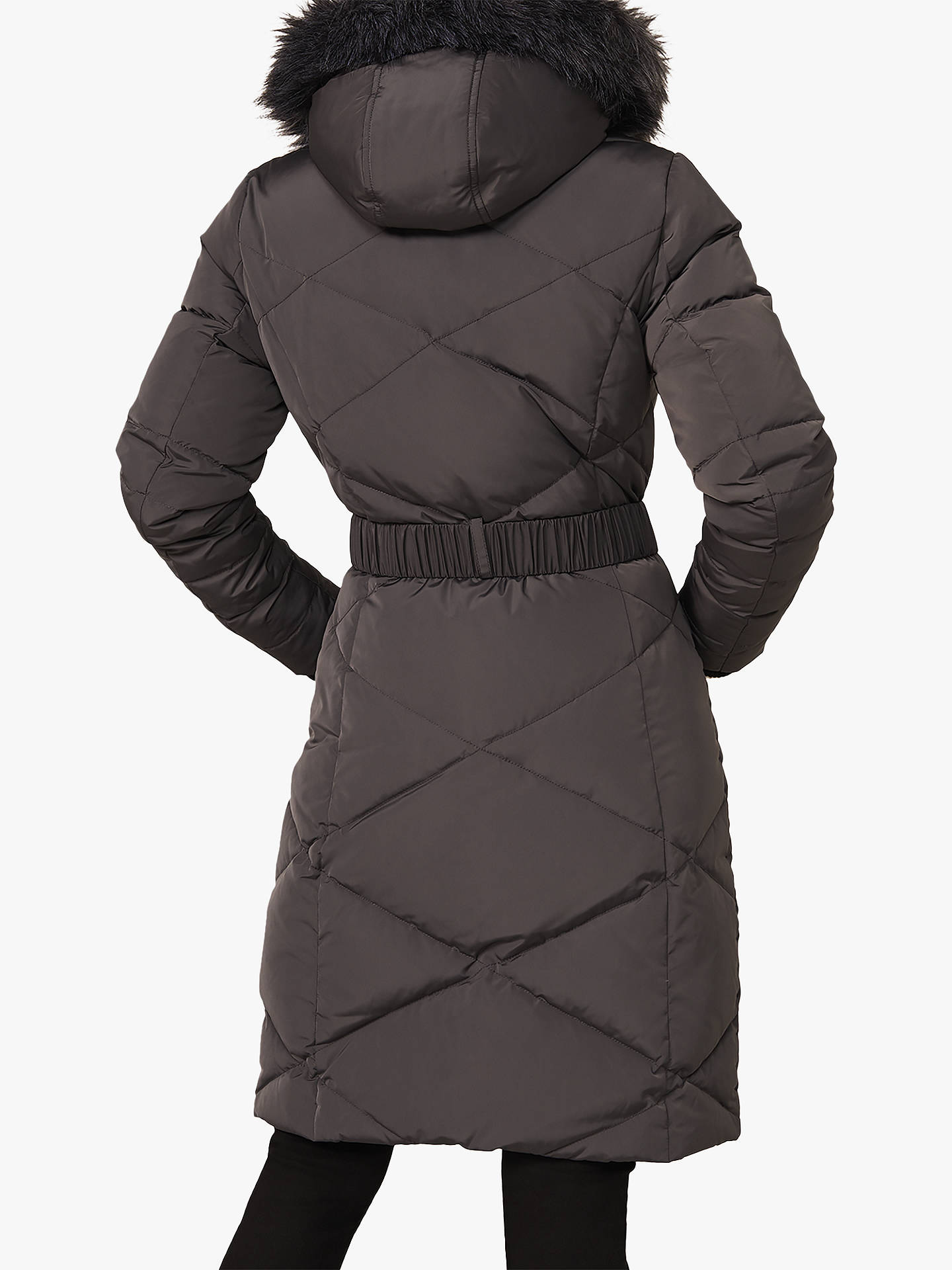 Buy Phase Eight Remy Longline Quilted Coat, Grey, 8 Online at johnlewis.com