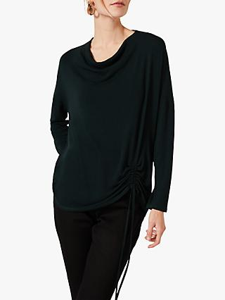 Phase Eight Jinny Cowl Neck Top, Dark Green