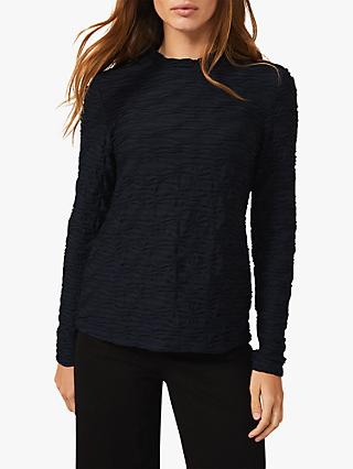 Phase Eight Iris Textured Top, Navy