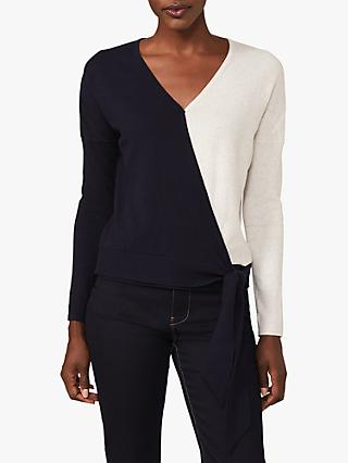 Phase Eight Maliah Colour Block Top, Navy