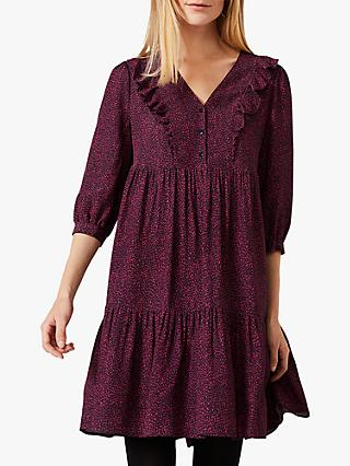Phase Eight Penny Ditsy Spot Print Swing Dress, Berry