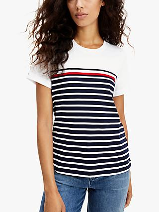 Tommy Hilfiger Stripe T-Shirt, White/Multi