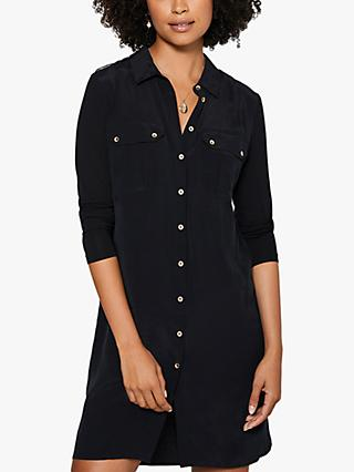 Mint Velvet Mini Shirt Dress, Black