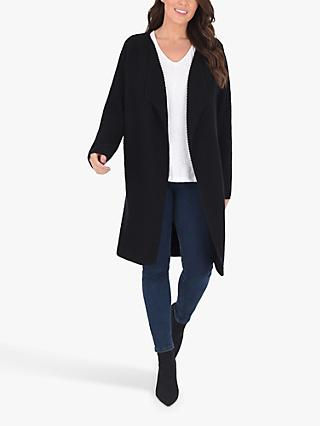 Live Unlimited Curve Waterfall Cardigan, Black