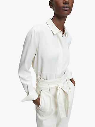 Calvin Klein Side Split Blouse, White Smoke