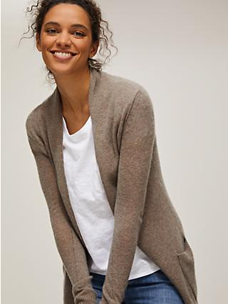 John Lewis & Partners Ultra Light Edge to Edge Cashmere Cardigan