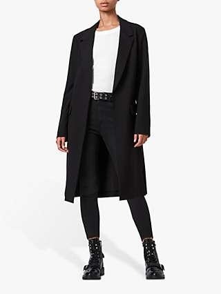 AllSaints Aleida Duster Coat, Black