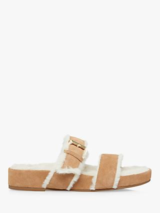Dune Waverly Suede Buckle Strap Slippers