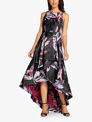 Adrianna Papell Floral Maxi Gown, Magenta/Multi