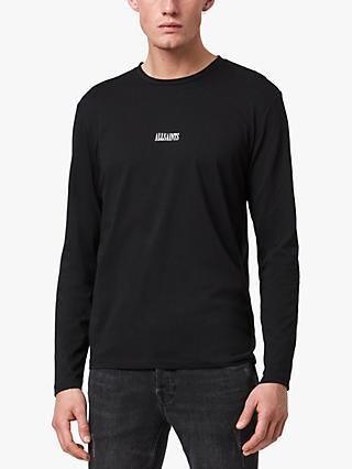 AllSaints State Logo Long Sleeve Crew Neck T-Shirt