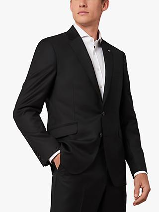 Jaeger 120s Wool Twill Slim Fit Suit Jacket, Black
