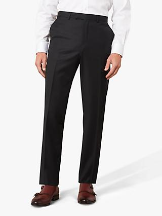 Jaeger 120s Wool Twill Slim Fit Suit Trousers, Black