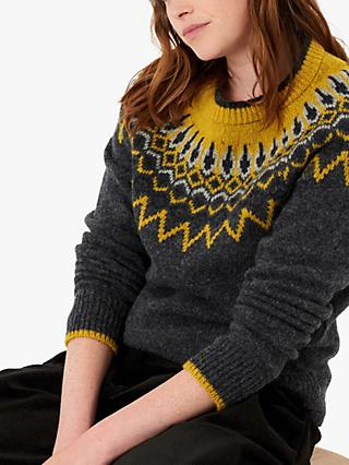 Brora Icelandic Abstract Jumper, Slate