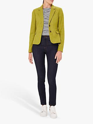 Hobbs Hackness Wool Jacket, Lime Green