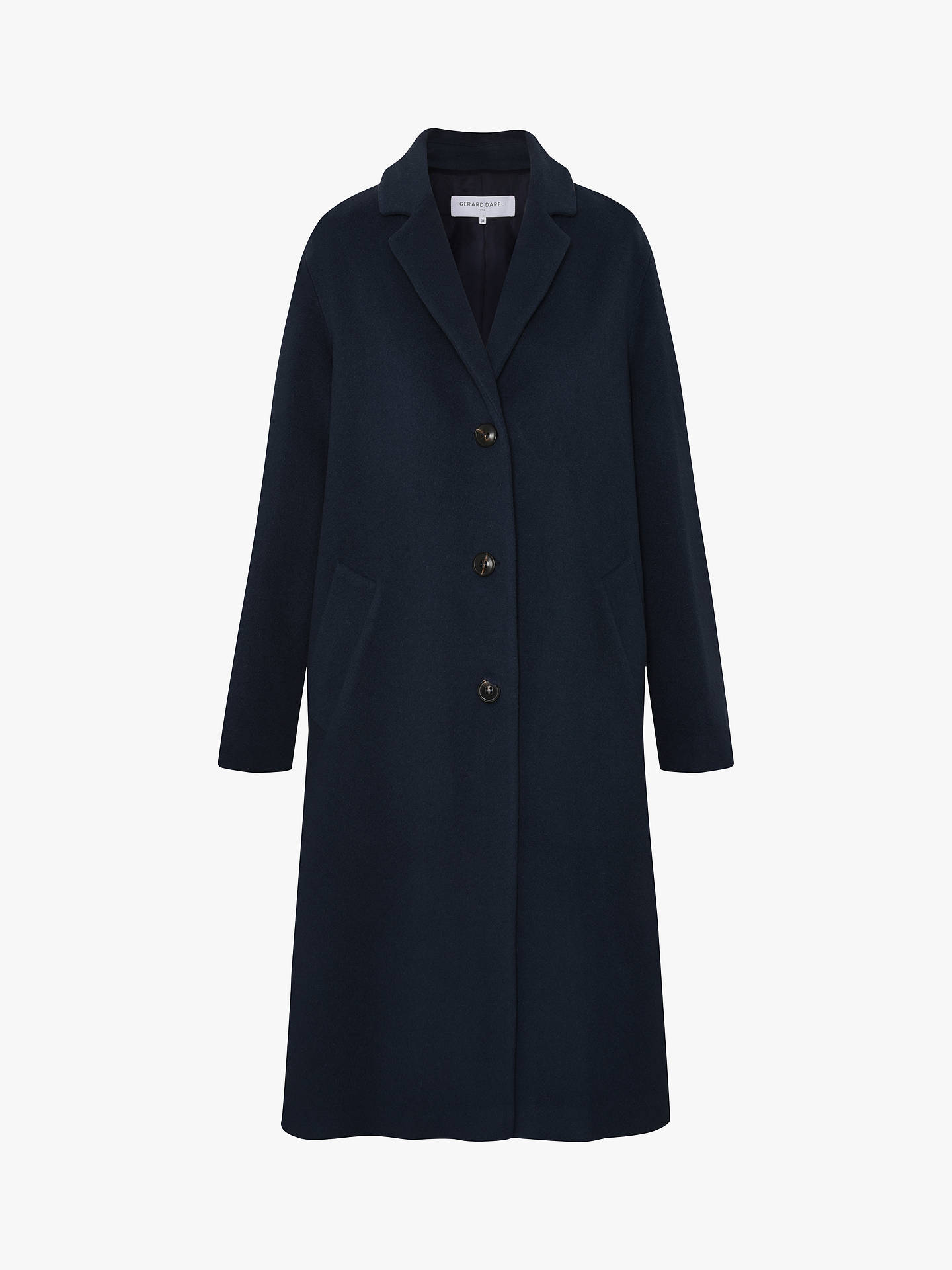 Buy Gerard Darel Sim Wool Blend Coat, Blue, 6 Online at johnlewis.com