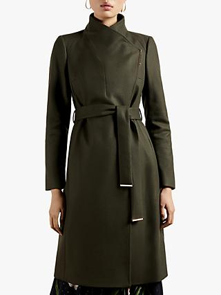 Ted Baker Rose Belted Wool Blend Coat