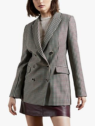 Ted Baker Beechi Double Breasted Blazer, Purple