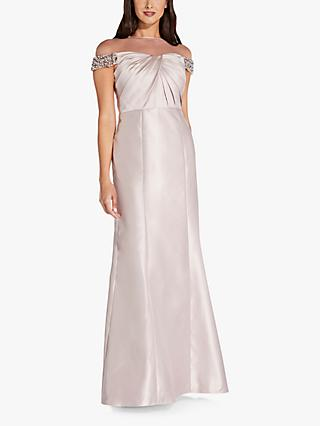 Adrianna Papell Illusion Ruched Bodice Maxi Dress, Bellini