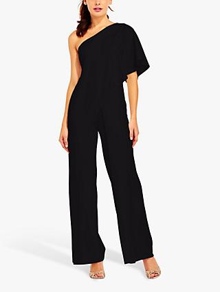 Adrianna Papell One Shoulder Jumpsuit, Black
