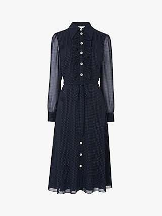 L.K.Bennett Ensor Polka Dot Shirt Dress, Navy
