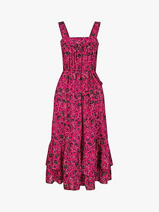 Monsoon Shiloh Floral Sun Dress, Pink