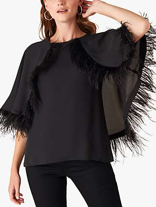 Monsoon Fiammetta Cape Top, Black