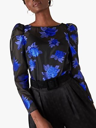 Monsoon Ophelia Floral Blouse, Blue