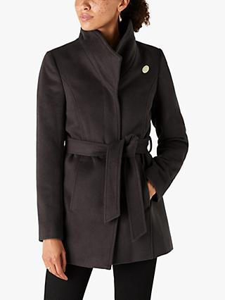 Monsoon Remmie Short Coat, Charcoal