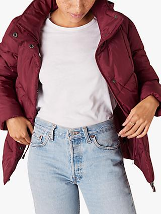 Monsoon Elizabeth Padded Jacket, Berry