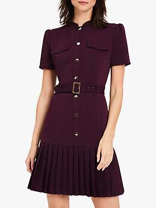 Damsel in a Dress Luna Utility Belted Mini Dress, Burgundy