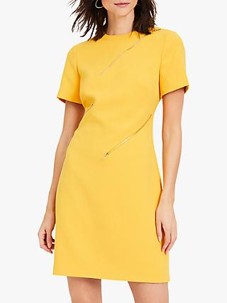 Damsel in a Dress Zaylee Zip Detail Dress, Mustard