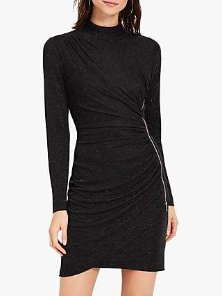 Damsel in a Dress Irise Sparkle Mini Dress, Black