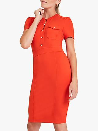 Damsel in a Dress Indie Stud Fitted Dress, Orange