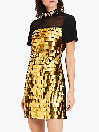 Damsel in a Dress Shula Sequin Mini Dress, Gold