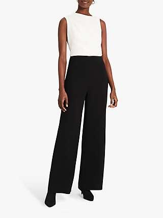 Damsel in a Dress Jovie Wide Leg Jumpsuit, Black/White