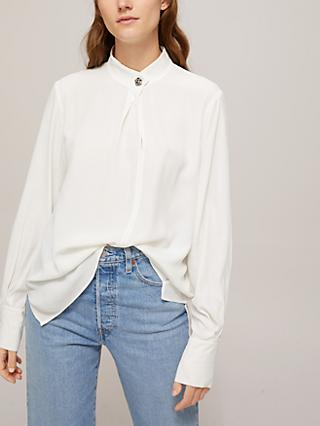 Marella Long Sleeve Button Detail Blouse, Ivory