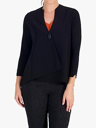 chesca Single Button Jersey Jacket, Black