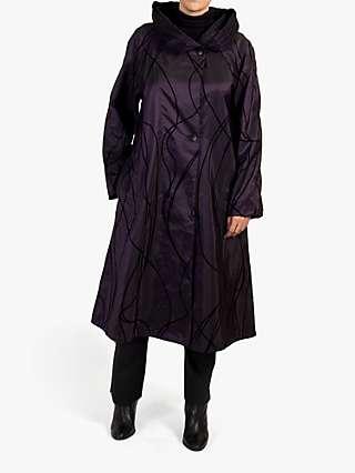 Chesca Reversible Flock Print Pleat Collar Coat
