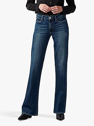 Paige Leenah Old School Wide Leg Jeans, Georganne Distressed