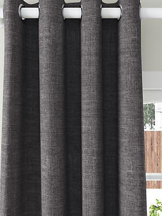 John Lewis & Partners Textured Weave Recycled Polyester Pair Blackout Lined Eyelet Curtains
