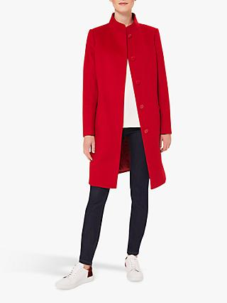 Hobbs Mandy Wool Coat, Red
