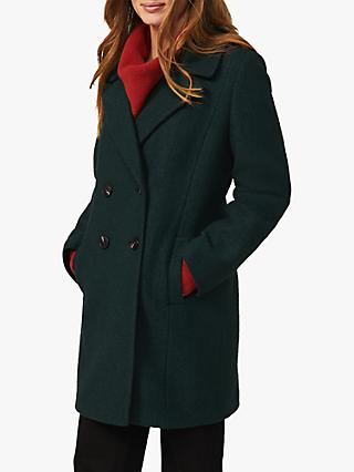 Phase Eight Lucine Wool Blend Coat, Forest Green