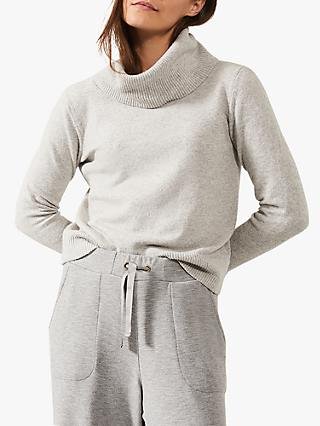 Phase Eight Odelia Roll Neck Jumper, Grey Marl
