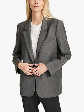 NRBY Jackie Fine Wool Jacket, Grey