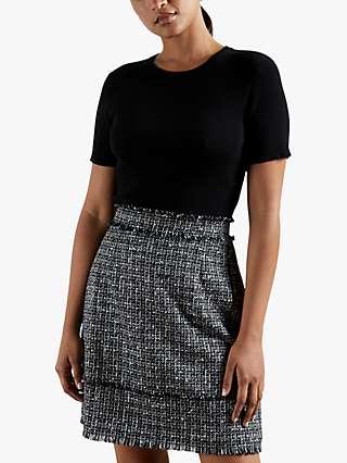 Ted Baker Klaudid Check Mini Dress, Black