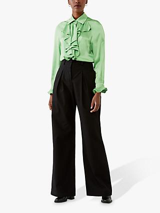 Ghost Billie Ruffle Blouse, Green Haze