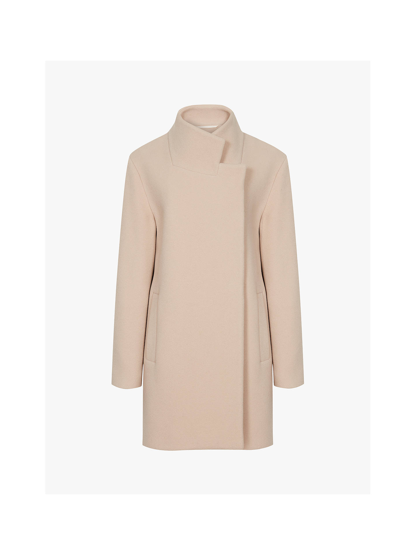 Buy Reiss Sicily Wool Rich Tailored Coat, Pale Pink, 6 Online at johnlewis.com