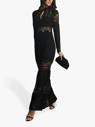 Reiss Miranda Lace Maxi Dress, Black