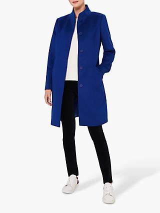 Hobbs Mandy Wool Coat, Cobalt