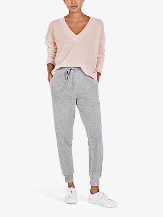hush Gem Cashmere V-Neck Jumper, Soft Blush